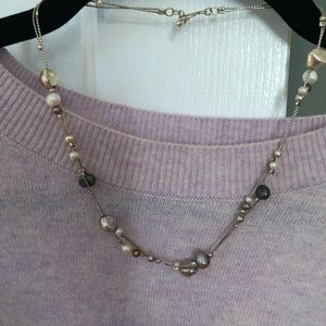 Authentic Silpada Pearl and Silver Bead Necklace